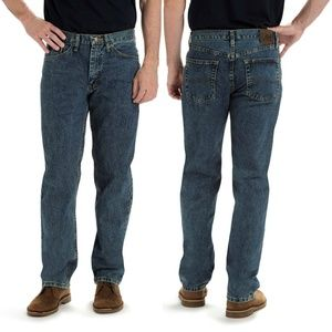 Lee Relaxed Fit Straight Leg Blue Jeans Newman